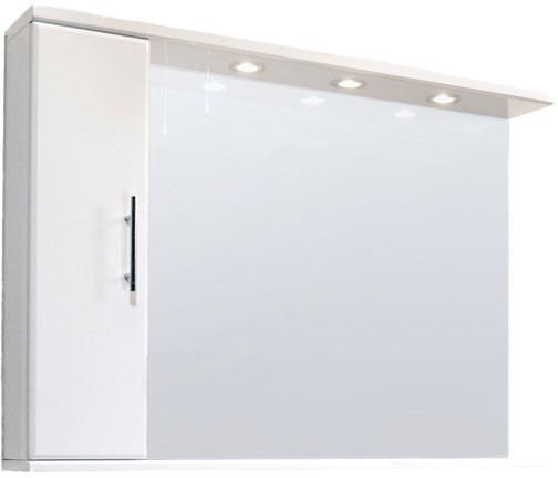 high gloss white 1200mm mirror cabinet