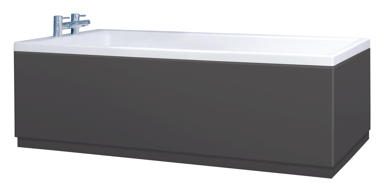 Low Level Anthracite Bath Panels With Plinths