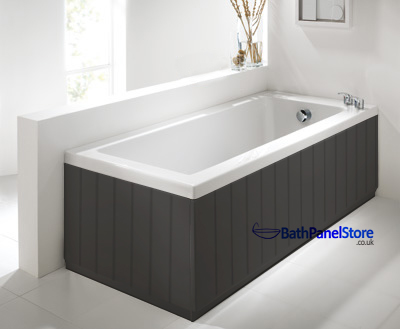 Tongue And Groove Anthracite 2 Piece Adjustable Bath Panels