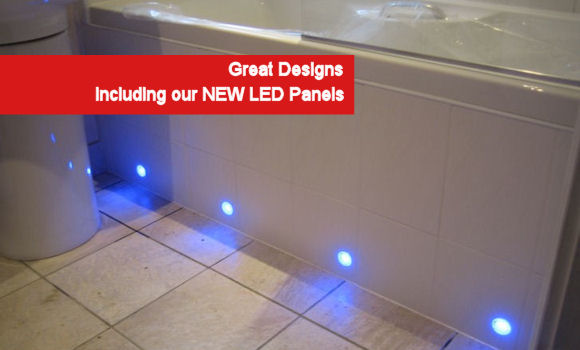 led designer bath panel