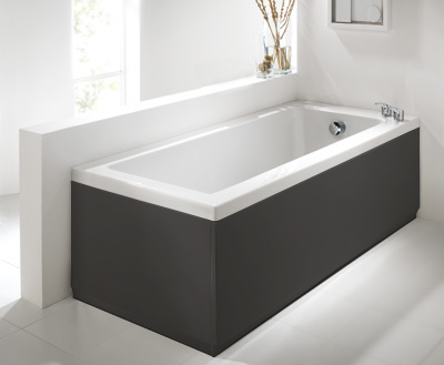 Commercial Grade  Anthracite 2 Piece Adjustable Bath Panel