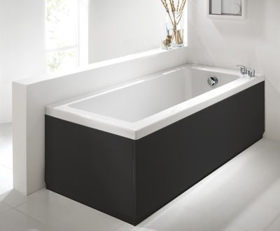 Commercial Grade Matt Black 2 Piece adjustable Bath Panels