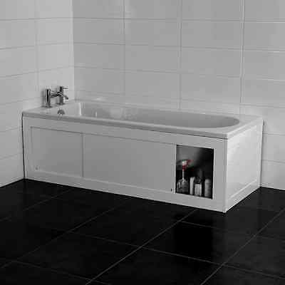 Croydex Unfold N Fit White Bath Panel With Lockable Storage