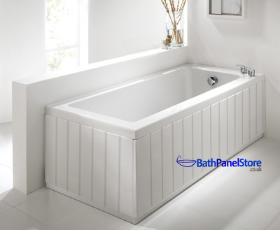 High gloss white extra height bath panels for Storage bath panel