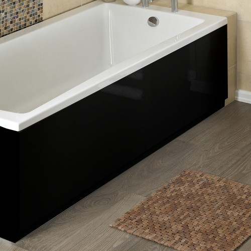 Hudson Reed Black 2 Piece adjustable Bath Panels