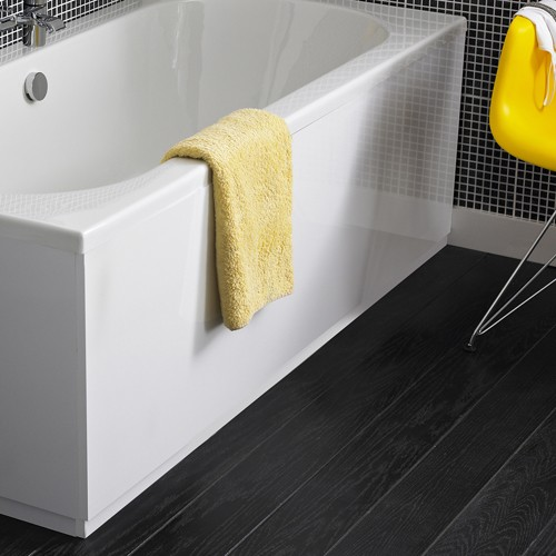 Hudson Reed White 2 Piece Adjustable Bath Panels