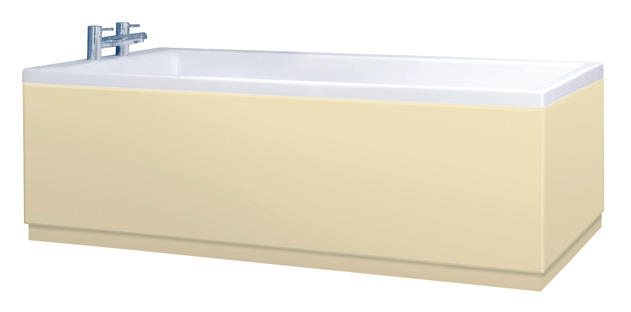 Low Level Matt Cream Bath Panels With Plinths