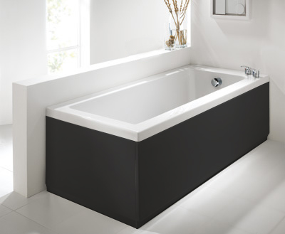 Luxury Black 2 Peice Adjustable Bath Panel Set
