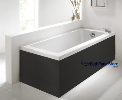 Luxury Black 2 Piece adjustable Bath Panels