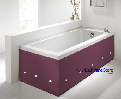 Luxury Burgundy 2 Piece adjustable Bath Panels with LED Lights