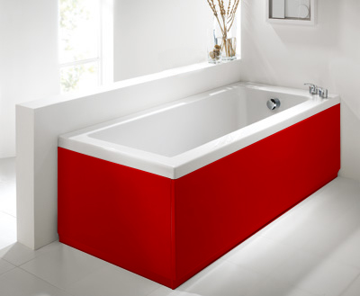 Luxury Red 2 Peice Adjustable Bath Panel Set