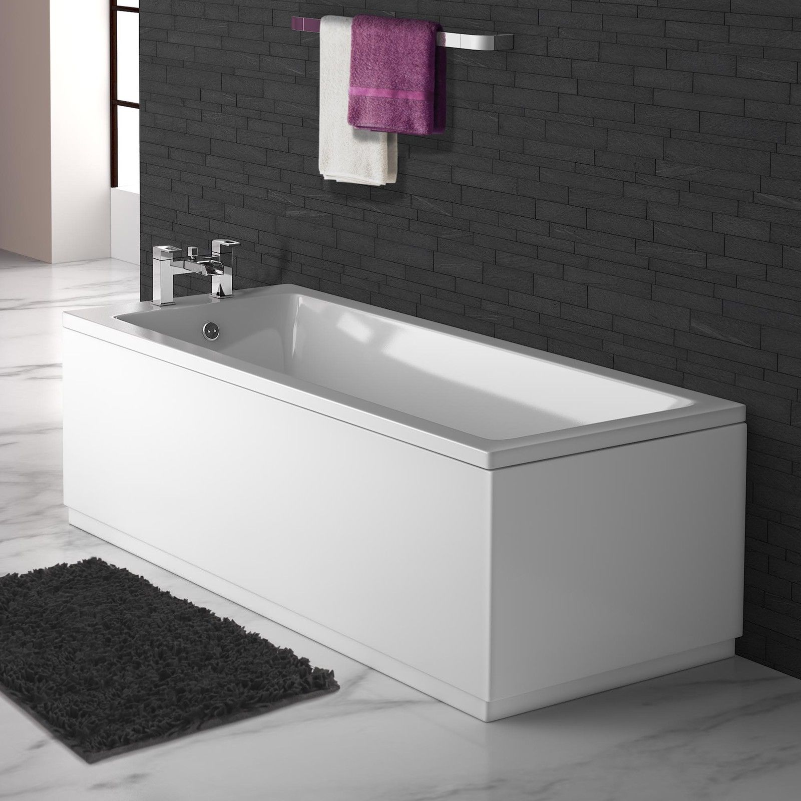 Matt White Extra Height Bath Panels