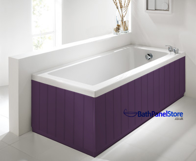 Tongue And Groove Aubergine 2 Piece Adjustable Bath Panels