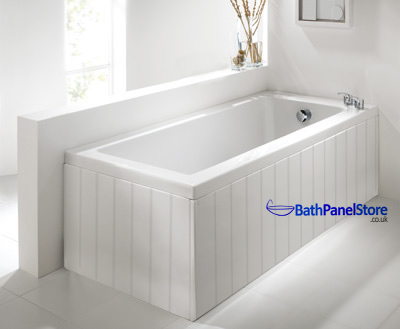 Tongue and Groove Matt White 1 Piece Bath Panels